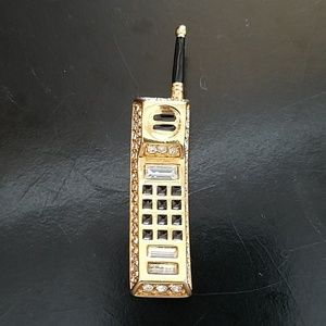Swarovski Crystal Cell Phone Pin